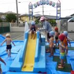 水遊び保育(ウォーター・スライダー)